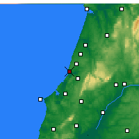 Nearby Forecast Locations - Nazaré - Mapa