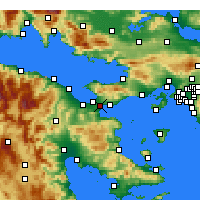 Nearby Forecast Locations - Temple of Isthmia - Mapa