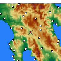 Nearby Forecast Locations - Megalópolis - Mapa