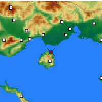 Nearby Forecast Locations - Tasos - Mapa