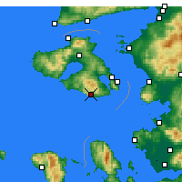 Nearby Forecast Locations - Plomari - Mapa