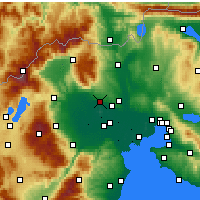 Nearby Forecast Locations - Giannitsa - Mapa