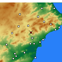 Nearby Forecast Locations - Elda - Mapa