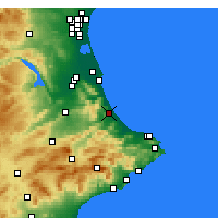 Nearby Forecast Locations - Gandia - Mapa