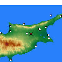 Nearby Forecast Locations - Ercan Intl. Airport - Mapa