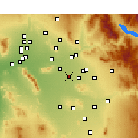 Nearby Forecast Locations - Chandler - Mapa