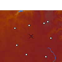 Nearby Forecast Locations - Hendrina - Mapa