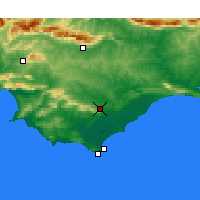 Nearby Forecast Locations - Bredasdorp - Mapa