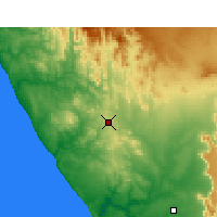 Nearby Forecast Locations - Bitterfontein - Mapa