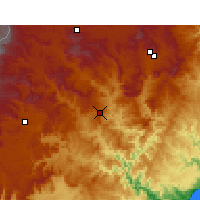 Nearby Forecast Locations - Mount Frere - Mapa
