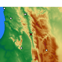 Nearby Forecast Locations - Citrusdal - Mapa