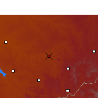 Nearby Forecast Locations - Senekal - Mapa