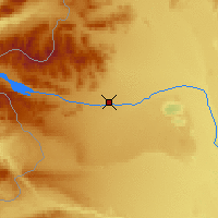 Nearby Forecast Locations - Alto Río Senguer - Mapa
