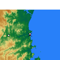 Nearby Forecast Locations - Itajaí - Mapa