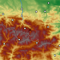 Nearby Forecast Locations - Vallées d'Ax - Mapa
