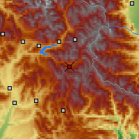 Nearby Forecast Locations - Valle de l'Ubaye - Mapa