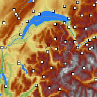 Nearby Forecast Locations - Praz de Lys-Sommand - Mapa
