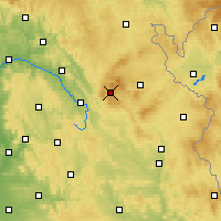 Nearby Forecast Locations - Warmensteinach - Mapa
