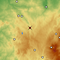 Nearby Forecast Locations - Aubusson - Mapa