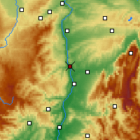 Nearby Forecast Locations - Tain-l'Hermitage - Mapa