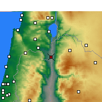 Nearby Forecast Locations - Kfar Ruppin - Mapa
