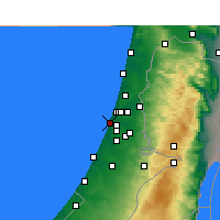 Nearby Forecast Locations - Holon - Mapa
