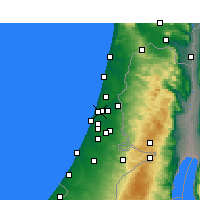 Nearby Forecast Locations - Ramat Gan - Mapa