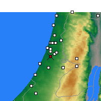 Nearby Forecast Locations - Rehovot - Mapa