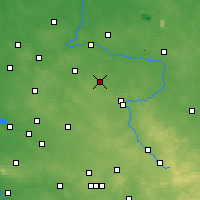 Nearby Forecast Locations - Kłobuck - Mapa