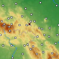 Nearby Forecast Locations - Wałbrzych - Mapa