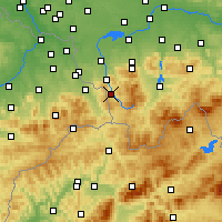 Nearby Forecast Locations - Wisła - Mapa