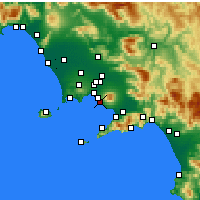 Nearby Forecast Locations - Ercolano - Mapa