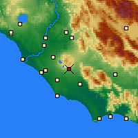Nearby Forecast Locations - Velletri - Mapa