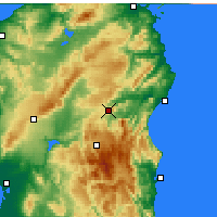 Nearby Forecast Locations - Nuoro - Mapa