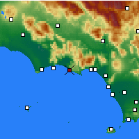Nearby Forecast Locations - Sperlonga - Mapa