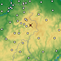 Nearby Forecast Locations - Bütgenbach - Mapa