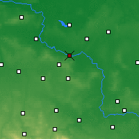 Nearby Forecast Locations - Głogów - Mapa