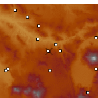 Nearby Forecast Locations - Nevşehir - Mapa