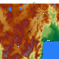 Nearby Forecast Locations - Korkuteli - Mapa