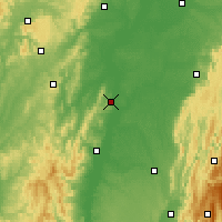 Nearby Forecast Locations - Tournus - Mapa