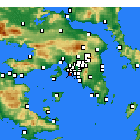 Nearby Forecast Locations - Pireu - Mapa