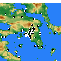 Nearby Forecast Locations - Nea Ionia - Mapa