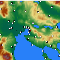 Nearby Forecast Locations - Pylaia - Mapa