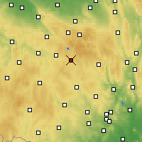 Nearby Forecast Locations - Žďár nad Sázavou - Mapa