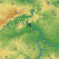 Nearby Forecast Locations - Litoměřice - Mapa