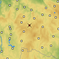 Nearby Forecast Locations - Pelhřimov - Mapa
