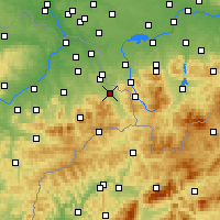 Nearby Forecast Locations - Třinec - Mapa