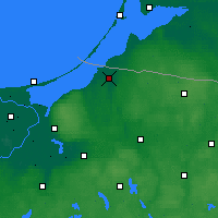 Nearby Forecast Locations - Braniewo - Mapa