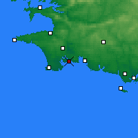 Nearby Forecast Locations - Bénodet - Mapa