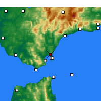 Nearby Forecast Locations - São Roque - Mapa